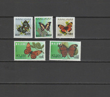 Malawi 2018 Butterflies Set Of 5 With Overprint Of New Value MNH - Malawi (1964-...)