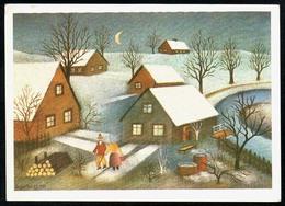B2997 - St. Gvalokay Künstlerkarte - Winterlandschaft - Planet DDR 1985 - Non Classificati