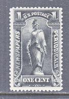 U.S.  NEWSPAPER  PR 114  Perf  12   *  Wmk 191 - Newspaper & Periodical