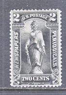 U.S.  NEWSPAPER  PR 115  Perf  12   *  Wmk 191 - Newspaper & Periodical