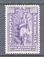 U.S.  NEWSPAPER  PR 125   Perf  12   *  Wmk 191 - Newspaper & Periodical