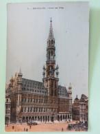 """Belgium Around 1920 Postcard """"""""Bruxelles - Hotel De Ville"""""""" - Belgien"""