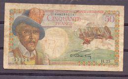 France D'outre-mer . Afrique Centrale  50 Fr  ND - Billets