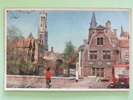 """Belgium Around 1920 Postcard """"""""Bruges - Quai Du Rosaire"""""""" - Belgien"""