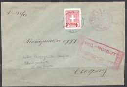 SERBIEN  Dienstmarke  MiNr 1  EF  Zensuriert 1943 Brief - Besetzungen 1938-45