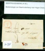 BRIEFOMSLAG Uit 1864 Van GEERTRUIDENBERG Naar HOGE ZWALUWE  (10.775) - Periode 1852-1890 (Willem III)
