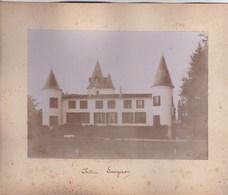 Photo Originale Sur Carton, Du Château Saugeron Près De Blaye (33) Circa 1900 - Plaatsen