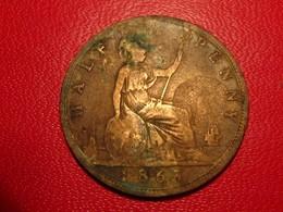 Royaume-Uni - UK - Half Penny 1863 Victoria 4215 - 1816-1901 : Frappes XIX° S.