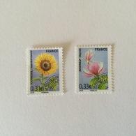 FRANCE 2008 Pre-obliteres 31c+33c Fleurs(2vals)Superbe Neuf-MUH Yv257-258 - 1989-....