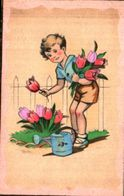 Enfant Illustré 394, Tulipes Arrosoir JDA 568 - Dessins D'enfants