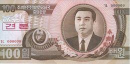 Corea Del Norte - North Korea 100 Won 1992 SPECIMEN Pick 43.s UNC Ref 566-1 - Corea Del Norte