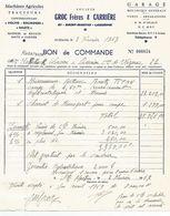 Bon De Commande Du 3 Février 1969 Moissonneuse Batteuse Et Chariot De Transport Pour Coupe - Agricoltura