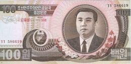 Corea Del Norte - North Korea 100 Won 2007, 95º Aniversario Kim Il Sung Pick 53 UNC - Corea Del Norte