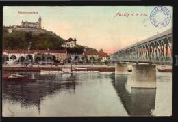Auzzig Czech Bridge Österreichisch-Ungarische  Aussig  Cancel AK Ca1900 POSTCARD CPA (W4_4194) - Tschechische Republik
