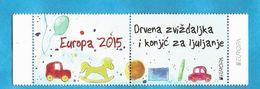 2015 EUROPA CEPT BOSNIA HERZEGOWINA MOSTAR KROATISCHE TEIL   OLD TOYS  KINDER ALTE SPIELZEUGE  VG - Europa-CEPT