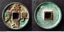 CHINA   CHONG NING TONG BAO - 10 CASH - LARGE COIN  - SLENDER GOLD SCRIPT - CHINE - China