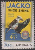"AUSTRALIA - USED 2014 70c Nostalgic Advertisements - ""Jacko Shoe Shine"" - Kookaburra - Bird - Usati"
