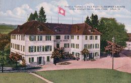 Siebnen-Lachen, Hotel Und Kurhaus Z. Bad Nuolen, Cachet Wangen (10.7.27) - SZ Schwyz