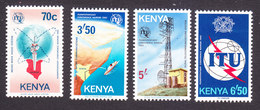 Kenya, Scott #234-237, Mint Hinged, ITU Conference, Issued 1982 - Kenya (1963-...)