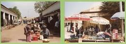 Bissau - Gabu - 2 REAL PHOTOS - Mercado - Ethnique - Ethnic - Publicidade - Marlboro - Café Delta - Guiné - Guinea-Bissau