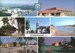 11907465 Fessenheim Haut-Rhin Centrale Nucleaire Salle Des Sports Etang Eglise P - France