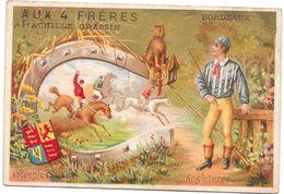 CHROMO AUX 4 FRERES BORDEAUX  Achille GRASSIN - Costumes Lingerie Ganterie - Angleterre - ROUIL*** - - Other