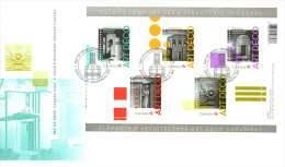 2011   Art Deco Architecture  Sc 2471  Souvenir Sheet Of 5 Different - Omslagen Van De Eerste Dagen (FDC)