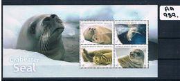 AUST-AAT 2018 SEAL'S 4VAL MINI SHEET MUH  AA939 - Australian Antarctic Territory (AAT)