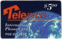 USA C-594 Prepaid Telepass - Universum, Eart - Used - Vereinigte Staaten