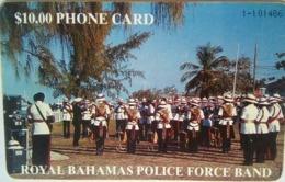$10 Police Band White Number No Box - Bahamas