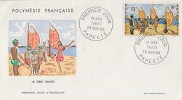 Enveloppe   FDC   1er Jour  POLYNESIE    IA  ORA   TAHITI    1966 - FDC