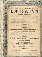(GAND) « Linière LA DWINA SA » - Capital : 2.000.000 Fr – Action Ordinaire De 500 Francs - Textile