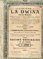 (GAND) « Linière LA DWINA SA » - Capital : 2.000.000 Fr – Action Ordinaire De 500 Francs - Textiel