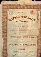 (BRUXELLES) « Compagnie De Tramways Et D'éclairage De TIENTSIN » - Capital : 6.250.000 Fr – Action Ordinaire - Chemin De Fer & Tramway
