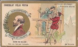 CHROMO--RARE---chocolat FELIX POTIN--shakespeare--roméo Et Juliette--( Auteurs Célébres )-voir 2 Scans - Félix Potin