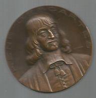 Médaille , RENE DESCARTES, Par P. Turin, Toute La Philosophie Est Comme Un Arbre , 2 Scans, Frais Fr 4.55 E - France