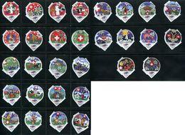 1577 B - Design Textile - Serie Complete De 30 Opercules De Creme Suisse Emmi - Opercules De Lait