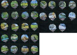 1584 B - Naturwege Chemin - Serie Complete De 30 Opercules Creme Suisse Emmi - Opercules De Lait