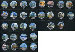 1588 B - Mod Architecture - Serie Complete De 30 Opercules Creme Suisse Emmi - Opercules De Lait