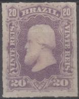 BRAZIL -  1878 20r Rouletted Dom Pedro. Scott 69. Mint - Ungebraucht
