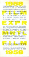 Ciné Cinema Invitation Film Experimental - Bruxelles 1958 - Unclassified