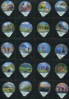 3262 A - Wandern Randonner - Serie Complete De 20 Opercules Creme Suisse Cremo - Opercules De Lait