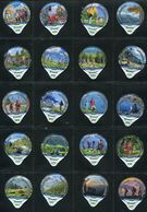 3262 A - Wandern Randonner - Serie Complete De 20 Opercules Creme Suisse Cremo - Milk Tops (Milk Lids)