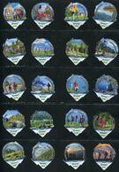3262 B - Wandern Randonner - Serie Complete De 20 Opercules Creme Suisse Cremo - Opercules De Lait
