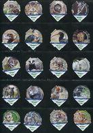 3268 B - Zoo La Garenne - Serie Complete De 20 Opercules Creme Suisse Cremo - Opercules De Lait