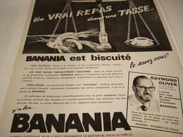 ANCIENNE AFFICHE  PUBLICITE EST BISCUITE BANANIA - Posters
