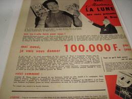 ANCIENNE AFFICHE PUBLICITE PATE ALIMENTAIRE LA  LUNE - Posters