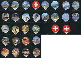 6290 B - Eidgenoessisch Symbole Suisse - Serie Complete De 30 Opercules Creme Suisse Migros - Milk Tops (Milk Lids)