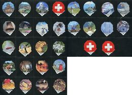 6290 B - Eidgenoessisch Symbole Suisse - Serie Complete De 30 Opercules Creme Suisse Migros - Opercules De Lait