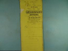 Acte Notarié 1862 Vente Par Canivet De Baileux à Coulonval De Vaulx /7/ - Manuscrits
